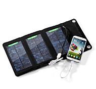 5W 5V 1A externen USB-Solarpanel Klapp Ladegerät Ladetasche für iphone6 / 6plus / samsung / andere mobile Geräte