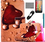 COCO FUN® Fallen Childhood Pattern PU Leather Full Body Case with Film and USB Cable and Stylus for Motorala Moto G