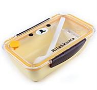 Cartoon Heizung tragbare Lunch-Box, Kunststoff 19 x 12 x 6,5 cm (7,5 x 4,8 x 2,6 Zoll) Zufallstyp