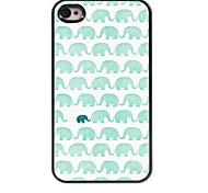 Indian Elephant Design Aluminum Hard Case for iPhone 4/4S