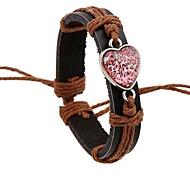 Punk Vintage Genuine Leather Heartshaped Bracelets