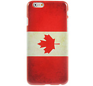 Canada Flag Design Hard Case for iPhone 6