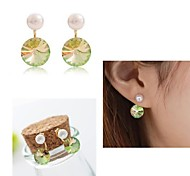 Korean Fashion Pearl Diamond Earrings