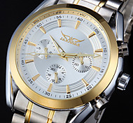 Men's 6 Pointers Auto Mechanical Stainless Steel Wrist Watch