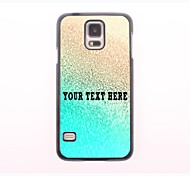 personalisierte Telefon-Fall - Regenwasser-Design-Metall-Fall für Samsung-Galaxie s5