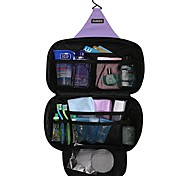 30 L Travel Organizer Traveling Outdoor Compact Black / Light Blue / Purple Oxford