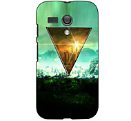 Triangle Design Hard Case for Motorola MOTO G