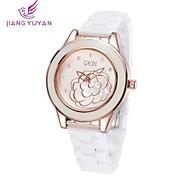 donne di marca di lusso gedi® orologi bianca strass banda ceramica moda rosa quarzo orologi d'oro donne (colori assortiti)