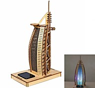 Yacht Hotel DIY Colored Drawing and Automatic Solar Light Sensation Toy