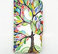 счастливы рисунок дерева PU кожаные чехлы полное тело с слот для карт и ПОВ по s4 мини i9190