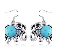 Little Cute Elephant Sapphire Earrings