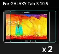 2 PC ultra claro hd lcd protector de la pantalla cubierta de la película con un paño de limpieza para Samsung Galaxy Tab 10.5 s t800