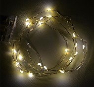 [10PCS/Lot] 2M 20xSMD Warm White Silver Wire LED String Light for Decoration (DC 6V) [AA Barterry Is Not Included]