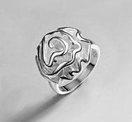 2016 Hot Sale Rose Noble Women Party Casual Sterling Silver Statement Ring