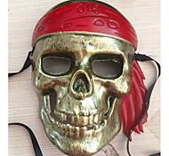 Bronze Caribbean Pirate Costumes Mask