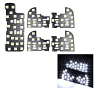 merdia 0.2W 72x5050smd conduit de lumière blanche pour éclairage de plaque d'immatriculation de voiture / lampe de lecture (5pcs / 12v)