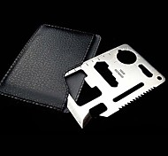 Outdoor Multi-Function Survival Aluminium Card and Tool