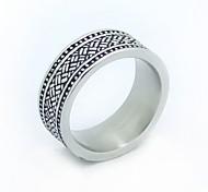 Stainless Steel Stripe Mature Rings