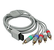 1.8M 5.904FT Wii 30Pin Male to 5RCA Male HD Video Audio Display Cable for Wii Support 1080P - Gray