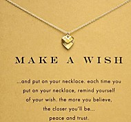 Fashion Dogeared Refracting Heart Pendant Golden Alloy Pendant Necklace(With Packing Box)(1 Pc)