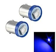 Merdia BA9S 0.5w 15lm 1x5050smd de luz LED azul de alto rendimiento llevado luz de la matrícula / la lámpara de la puerta (par / 12v)