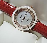 Women's Big Round Dial PU Band Quartz Fashion Watch(Assorted Colors)
