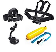 Gopro Accessories 4 in 1 Chest Strap + Head Strap+Suction Cup+Floating Grip For GoPro Hero 1 2 3 3+4Camera