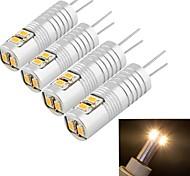 youoklight®  4PCS G4 2.5W 6*SMD3014 100LM Warm/Cool White Light Corn Bulbs (AC/DC12V)
