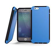 Alto impacto caso 2 in1 híbrido duro de silicona para iphone 6 (color surtidos)