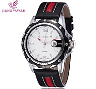 Men's Watch Japanese Quartz Sport Watch Calendar PU Band