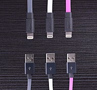 Yellowknife® MFi Certified 1M 8 Pin Lighting to USB Sync Data/Charging Flat Cable for iPhone 5/5S/6/6 Plus