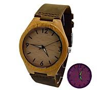Мужской Наручные часы Кварцевый Японский кварц Кожа Группа Коричневый марка
