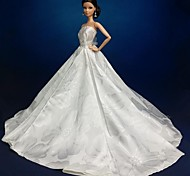 Barbie Doll Elegant Floor-length Party/Evening Dress