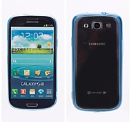 Transparent Inferior Smooth Silicone Mobile Phone Sets  for samsung Galaxy S3 mini i9300