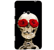 Rose Skull Design Hard Case for Nokia N625