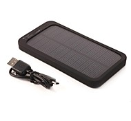 5000mAh 0.7W External Battery for iphone6/6plus/5S/4S/5 Samsung S4/5 HTC and other Mobile Devices Solar Battery Charging