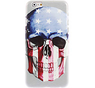 U.S flag and Skull Design Hard Case for iPhone 6