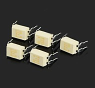 P521-1 TLP521-1 DIP-4 Plug-in Photoelectric Couplers - White (5 PCS)