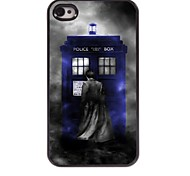 Police Box Design Aluminum Hard Case for iPhone 4/4S
