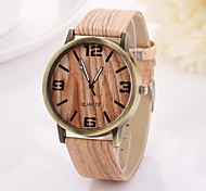 Women's Arabic Numerals  and Arrow  Digital Round Table Pure Color Teak Strap  Watch C&D-356