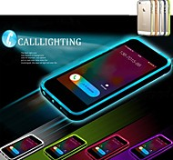 Lncoming Call LED Blink Transparent TPU Back Cover Case for iPhone 6 Plus (Assorted color)