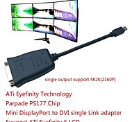 ATI Eyefinity Mini DisplayPort activa al convertidor dvi apoyo cable ATI Eyefinity 6 lcd 20cm