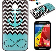 Anchor Pattern PC Back Cover Case With Dustproof plug for Motorola G2