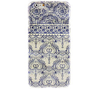 Elegant Blue Flower Design Hard Case for iPhone 6