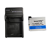 ismartdigi 401 câmera 1160mah bateria + carregador para GoPro 4 câmera ahdbt 401