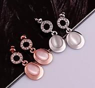 ópalos taladro determinado de 18 k rosa pendientes de oro el amor regalo