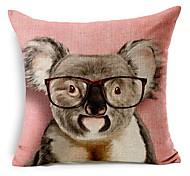 енот в очках хлопка / белья декоративная подушка крышка