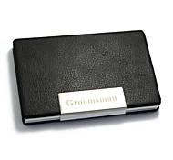 Bolsas de Cartões de Negócios - Presente personalizado - Preto - de Alumínio / Pele PU