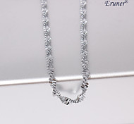 2 milímetros eruner®unisex ondulado prata colar de corrente no.22