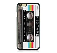 Retro Tape Leather Vein Pattern Hard Case for iPhone 6